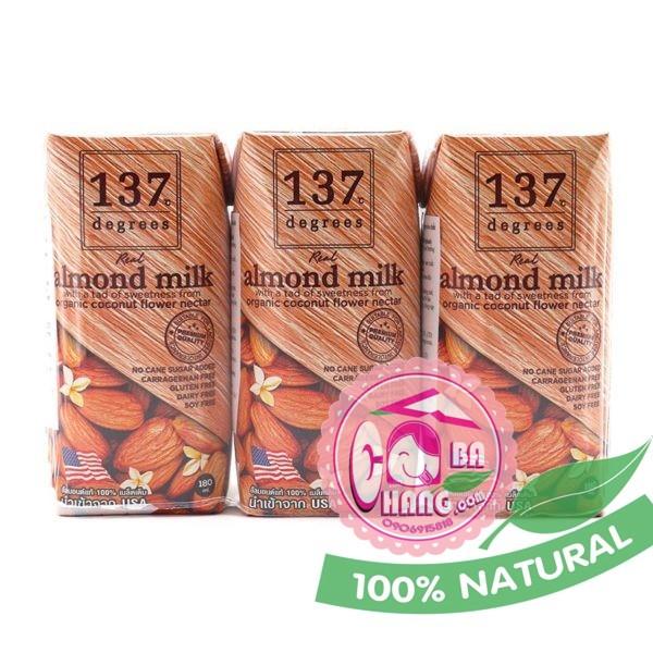 Sữa hạnh nhân nguyên chất 180ml 137 Thái Lan