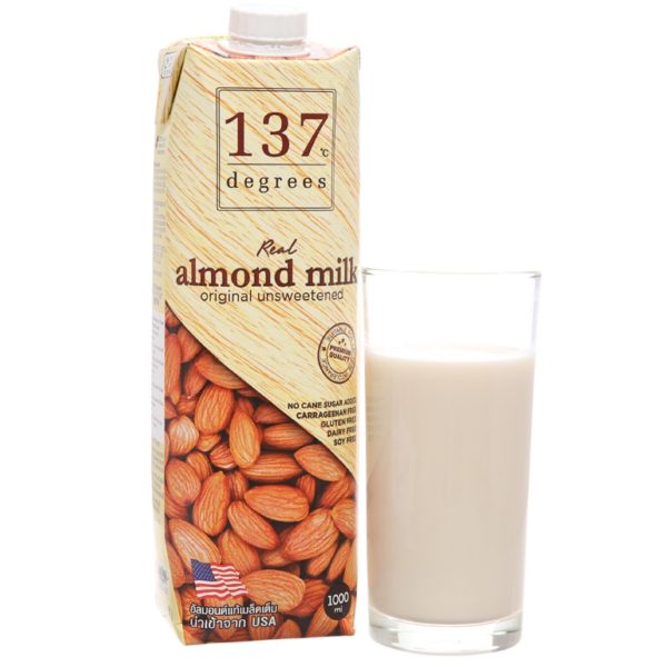sữa hạt hạnh nhân 137 Degree thái lan