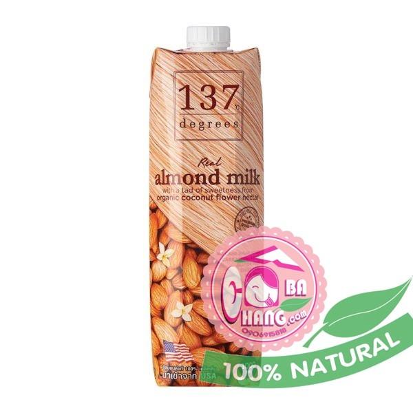 Sữa hạnh nhân nguyên chất 1 lít 137 Thái Lan