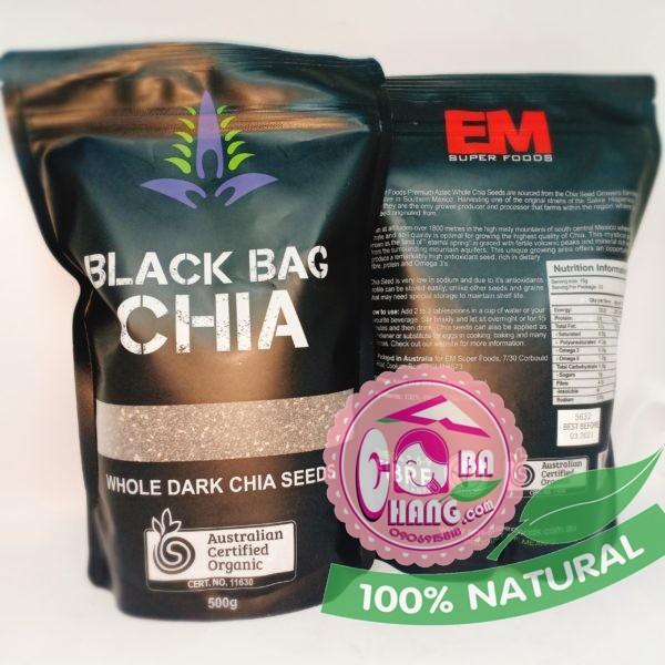 hạt chia đen úc black bag 500g
